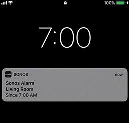 Lockscreen alert for the alarm