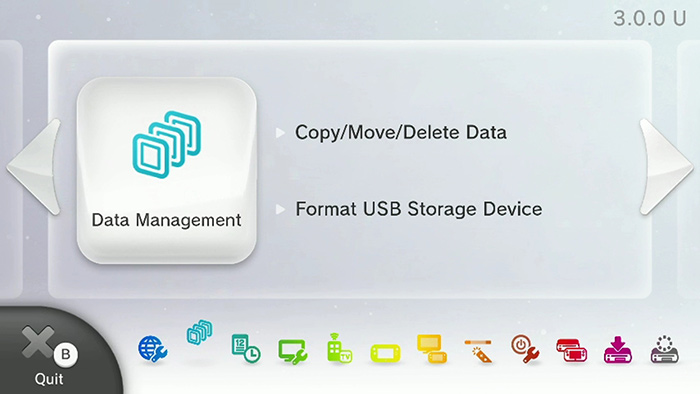 Data Management page