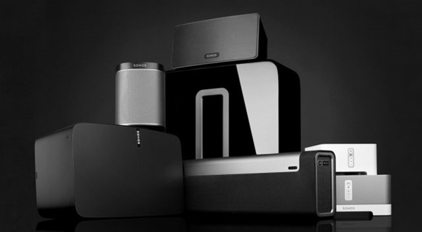 Assorted Sonos devices.