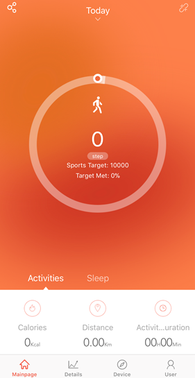 Veryfitpro app home page showing fitness stats