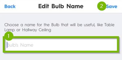 Bulb name field.