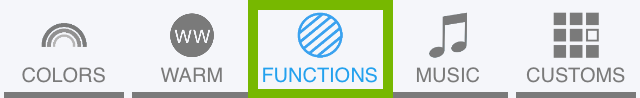 Functions button highlighted