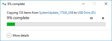 File copy progress.