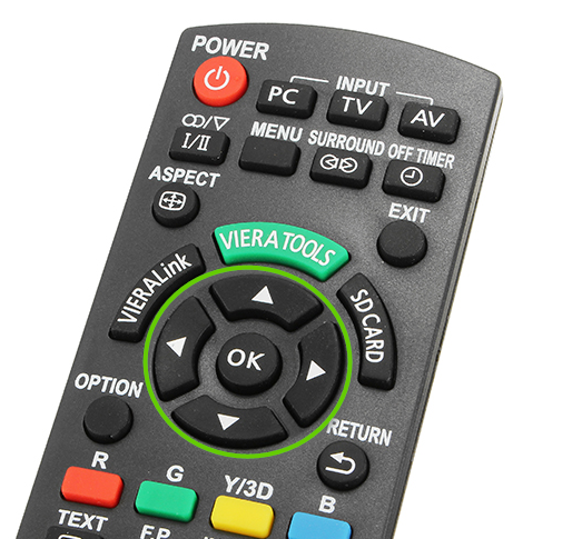 Panasonic remote directional buttons