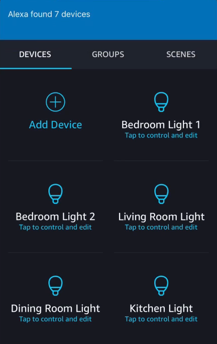 New devices added to Alexa app.