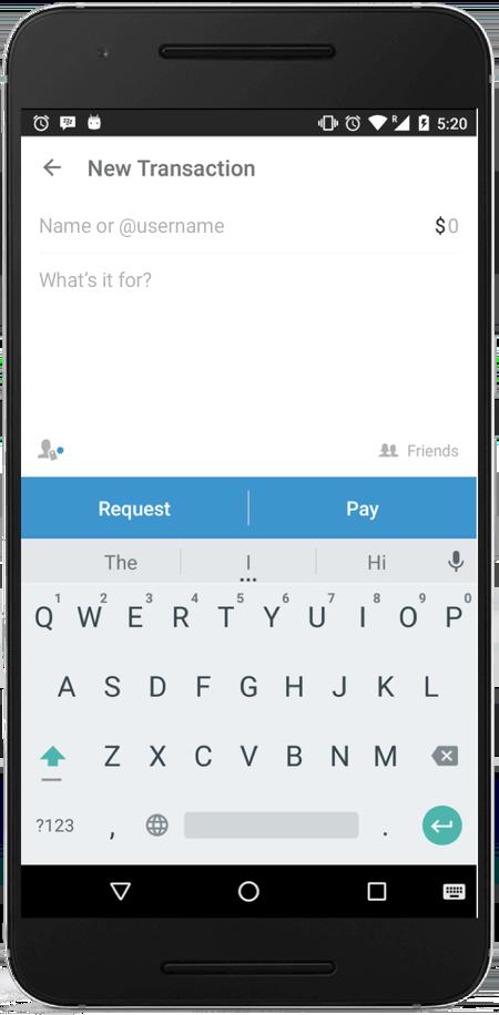 Venmo - payment form