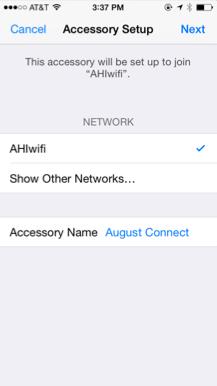 iOS Accessory Setup page