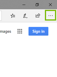Edge with 3 dots highlighted. Screenshot