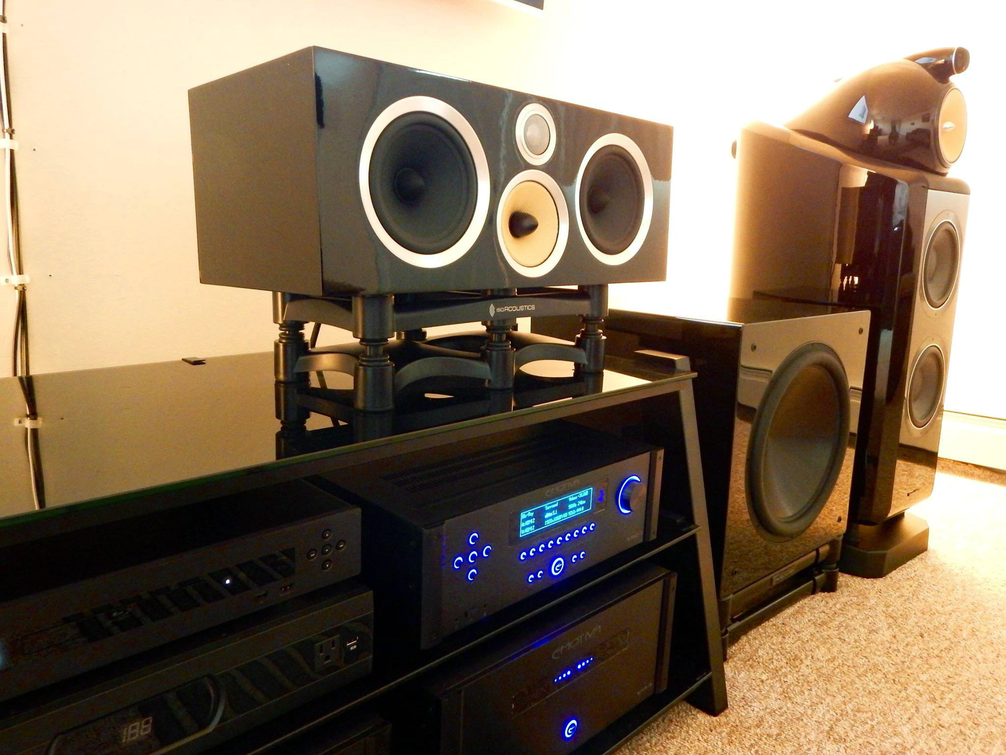Home theater system speakers.