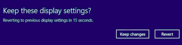 Keep Display Settings dialog in Windows 8.