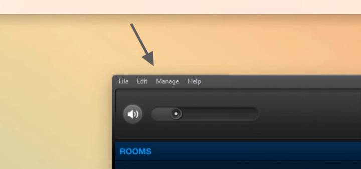 Sonos Controller menu placement on PC