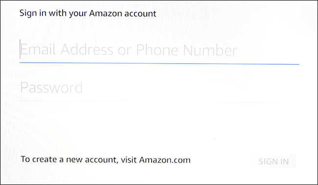 email address and password entry