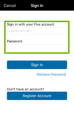 Username and Password field