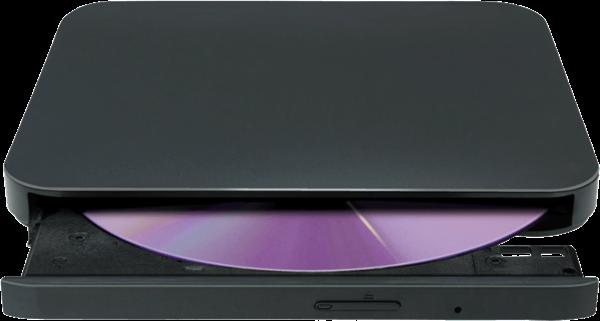 External optical disc drive.