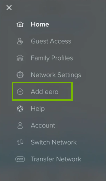 Add eero button