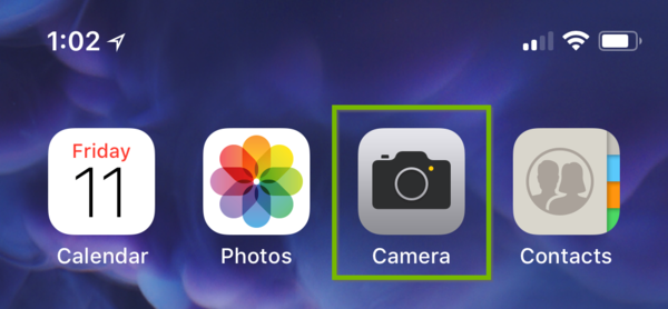 iOS camera app.