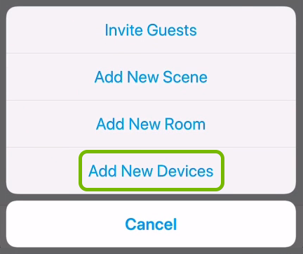 Add New Devices option highlighted in C by GE app.