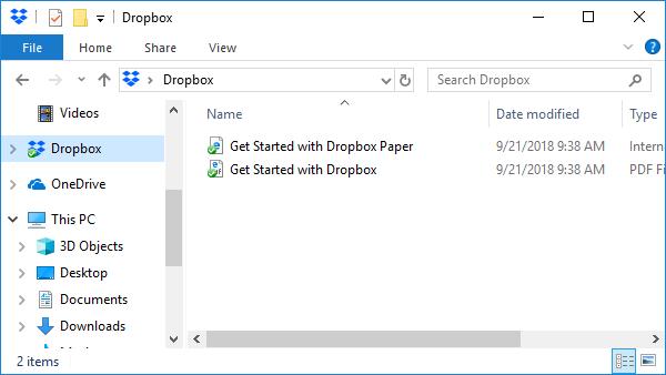 Dropbox folder.