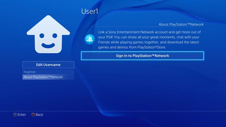 User profile screen.