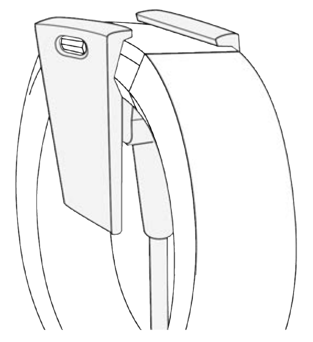 picture of the charger connected to the watch