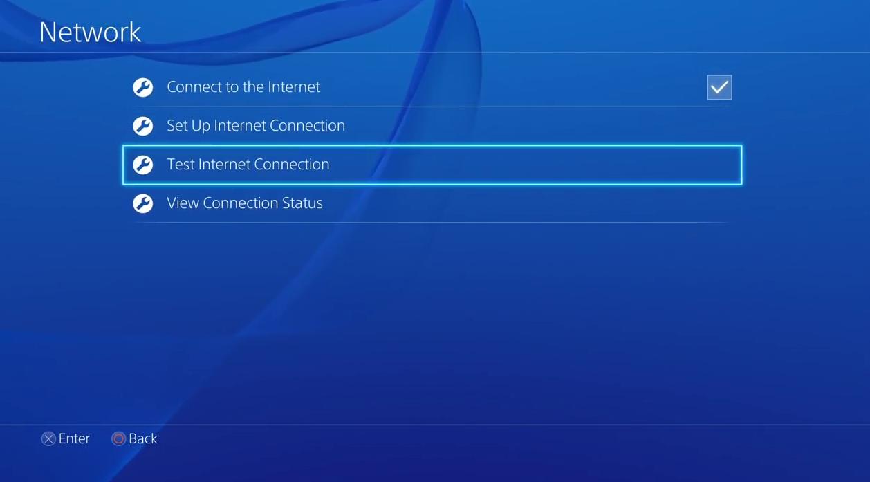 Network screen.