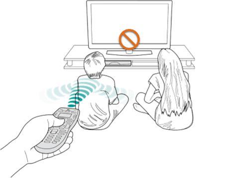 Logitech remote showing connection interruption