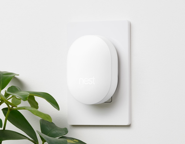 Nest Connect device plugged into a wall outlet.
