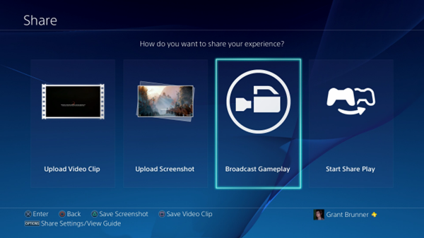 Broadcast gameplay icon