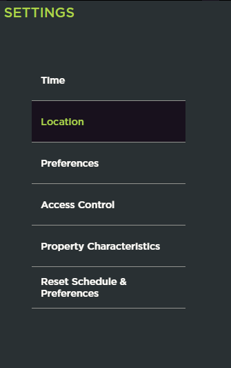 Location button