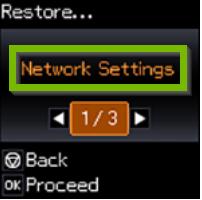Restore menu with All settings selected.