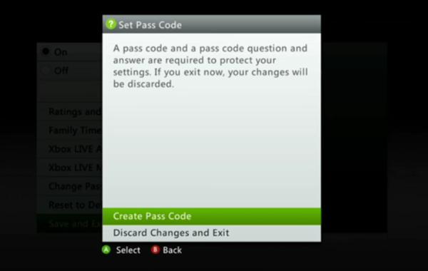 Creating a passcode
