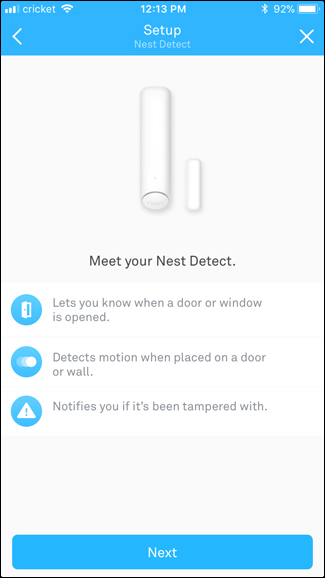 Nest Detect app explanation