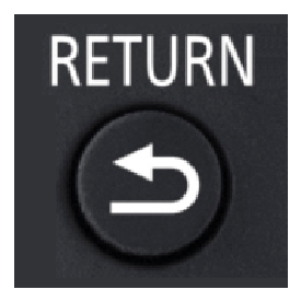 Return button on remote control