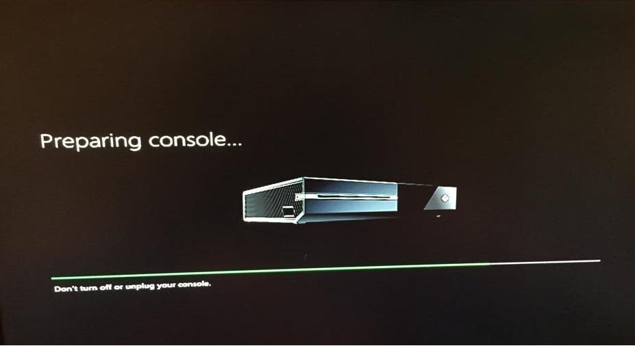 Preparing console..