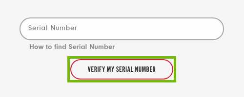 serial number prompt with verify my serial number button highlighted