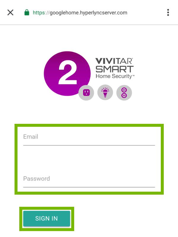 Vivitar login page