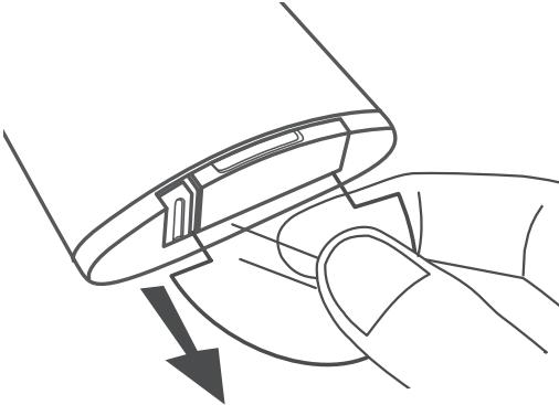Diagram indicating removing the plastic tab from battery on remote