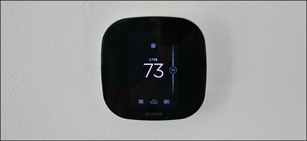An ecobee smart thermostat already installed