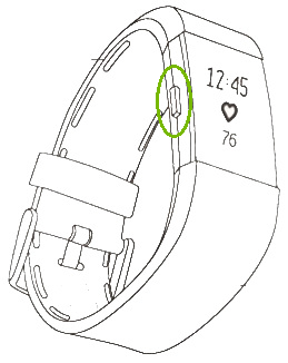 Charge 2 with the Button highlighted. Illustration