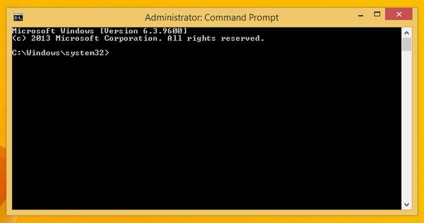 Windows 8 Command Prompt.