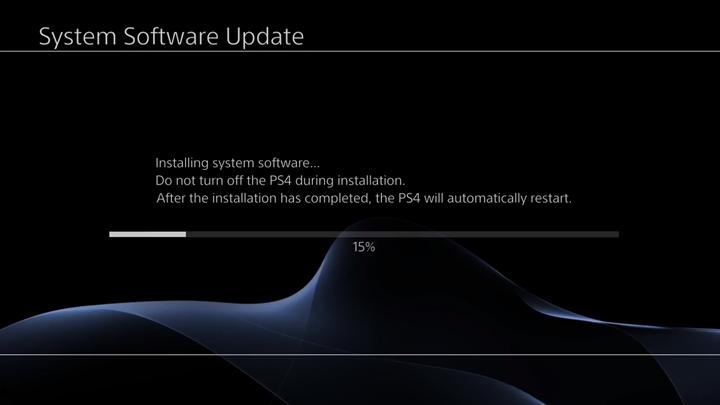 Installation in progress on System Software Update screen.
