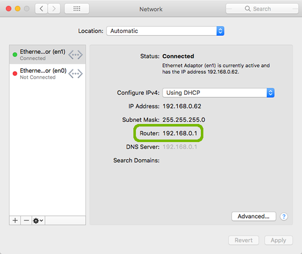 Network Preferences with Router highlighted.