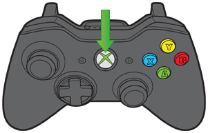 Placement of Xbox button on gamepad pointed out.