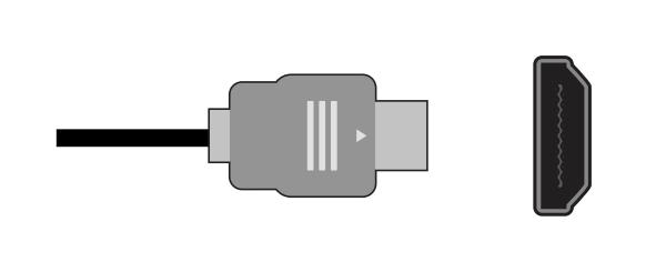 HDMI plug and socket.