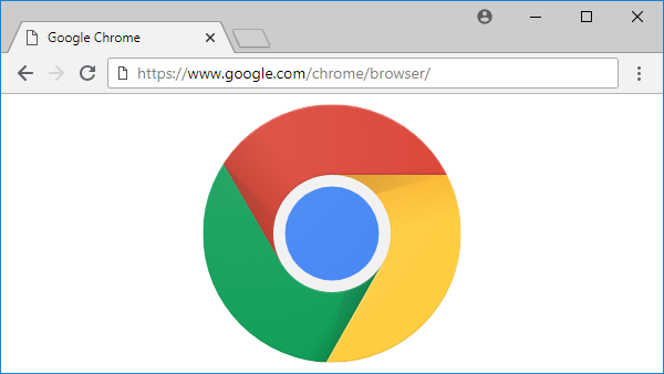 Chrome browser showing Chrome logo.