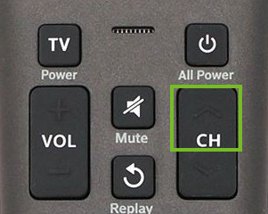 Channel up button