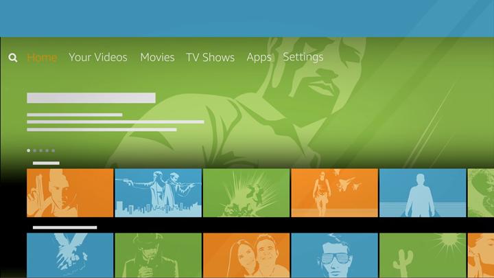 FireTV main screen.