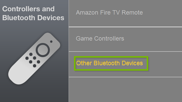 Controllers and Bluetooth Devices menu with Other Bluetooth Devices option selected. Screenshot.