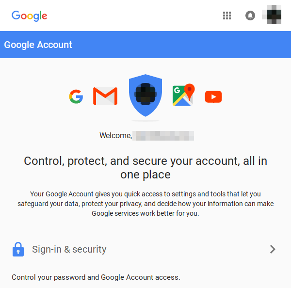 Google Accounts logged in.