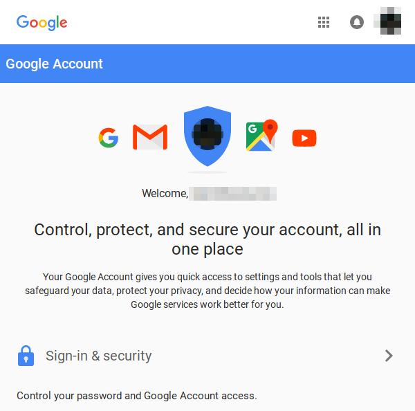 Google Accounts logged in.